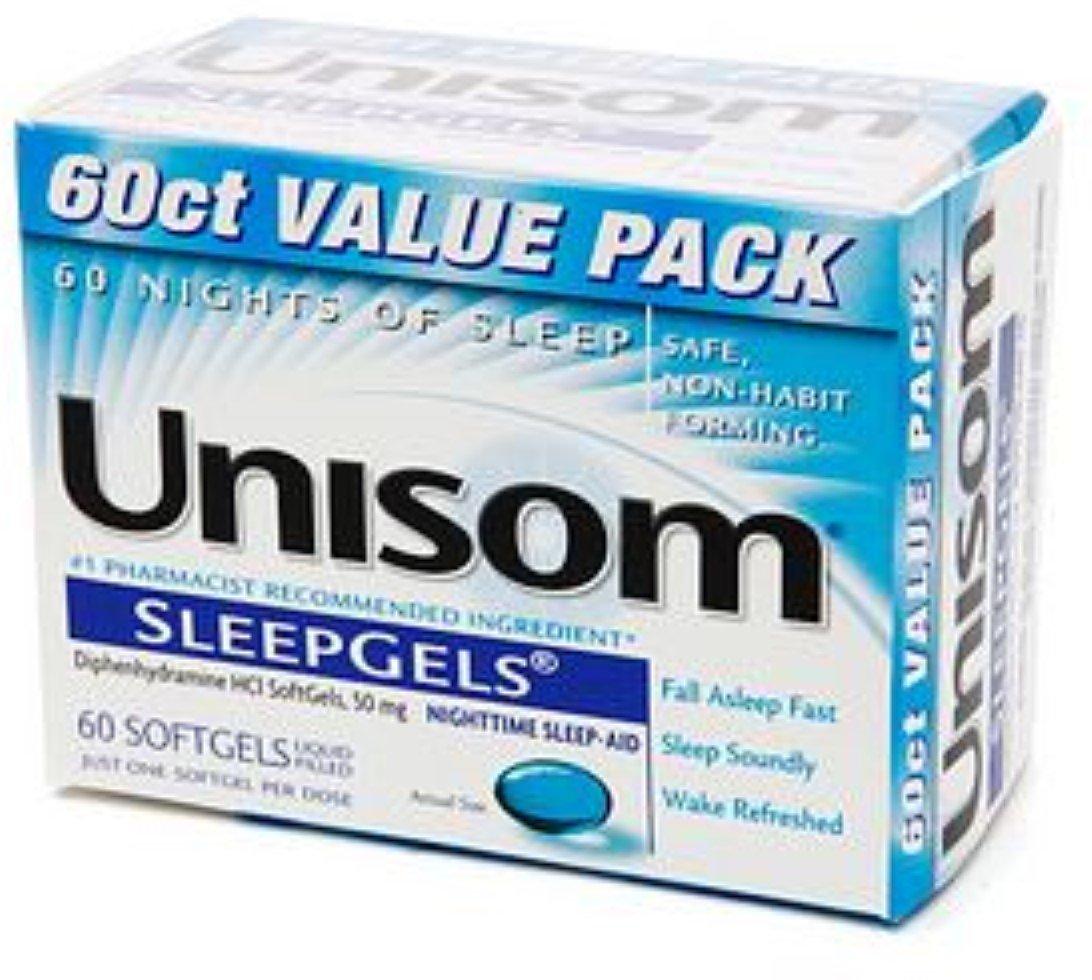 Unisom SleepGels 60 Caps (Pack of 12)