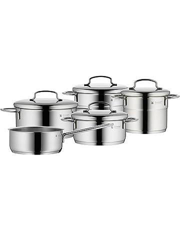 WMF - Bateria de cocina Mini (5 piezas) acero inoxidable, 1 x Cacerola