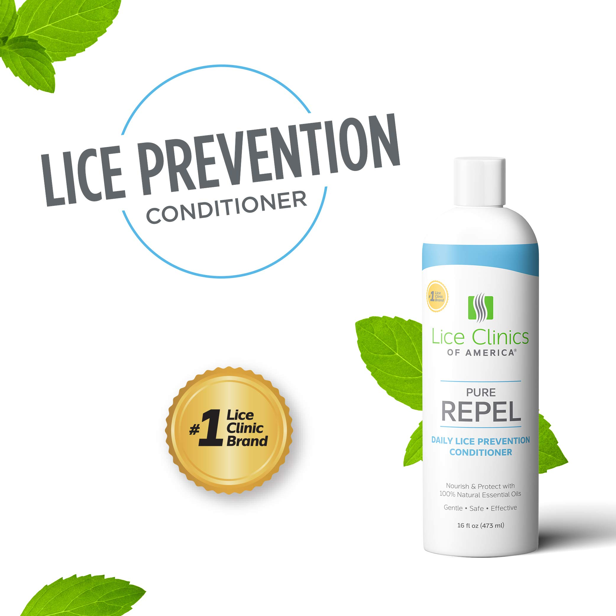 Lice Clinics of America Lice Prevention Conditioner - Repel Lice with 100% Natural Essential Oils by Lice Clinics of America