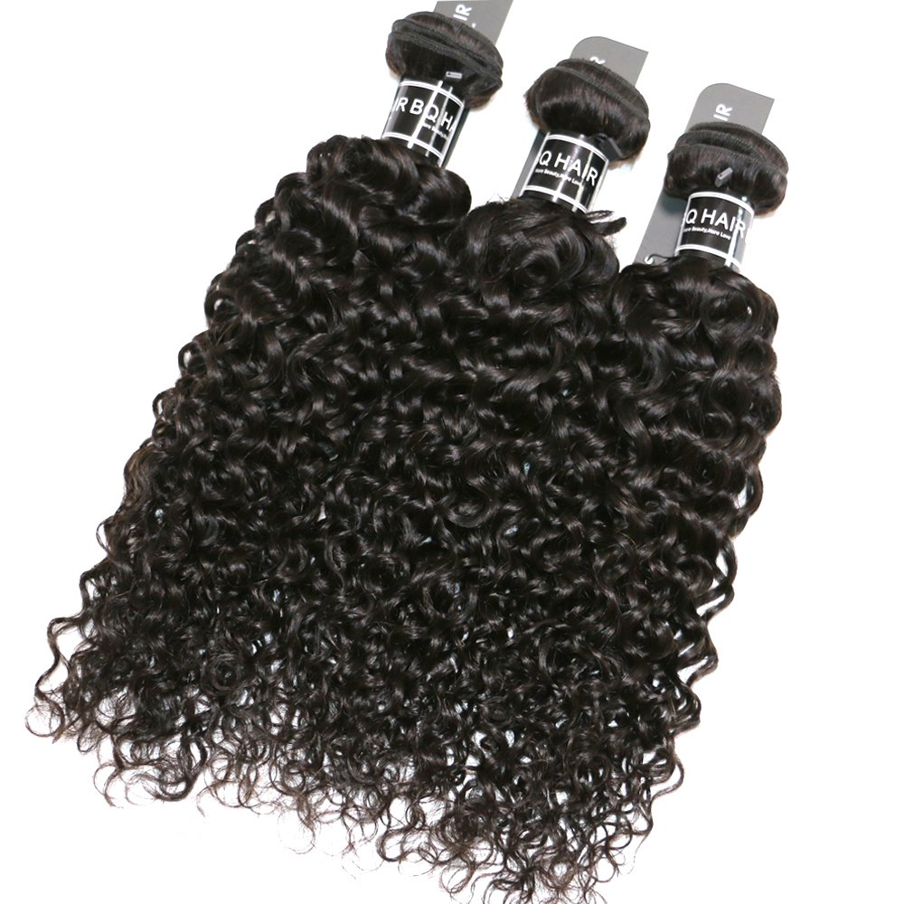 BQ HAIR Deep Curly 360 Frontal with Bundles 8A 100% Unprocessed Virgin Brazilian Human Hair -3 Bundles with 360 Lace Frontal Closure Pre Plucked (18''20''22''&16'') by BQ HAIR (Image #5)