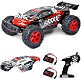 Refoc Electric RC Cars RC Truck Off Road, 1:12 Scale 4WD 2.4GHz Radio Remote control High Speed 28MPH+ with LED Night Vision and Collision Protection, 2 Rechargeable Battery 2 Car body 50 Stickers
