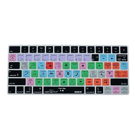 XSKN Apple Magic Keyboard Cover Logic Pro X Inglés Skin para Teclado, accesos directos,