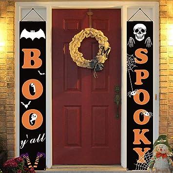Dazonge Halloween Decorations Outdoor | Boo And Spooky Halloween Signs For  Front Door Or Indoor Home Decor | Porch Decorations | Halloween Welcome ...