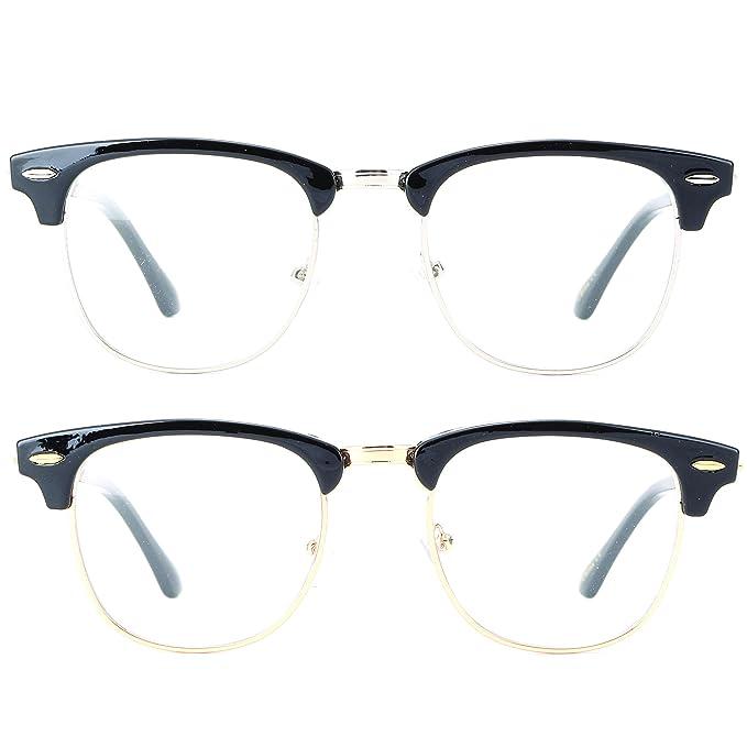 Amazon.com: Newbee Fashion - Clubmaster Oval Stylish Retro Celebrity ...