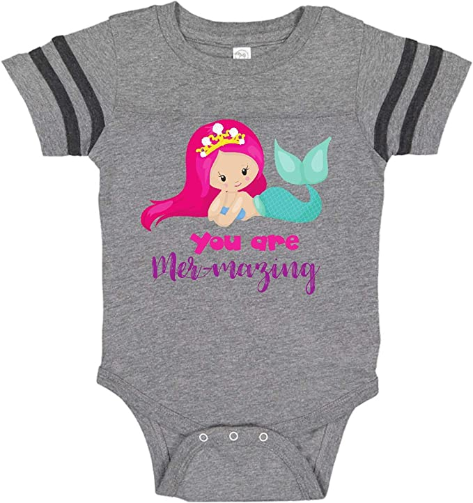inktastic You are Mermazing Mermaid with Pink Hair Toddler Long Sleeve T-Shirt