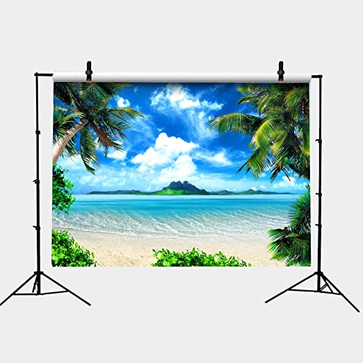 6x6FT Vinyl Wall Photography Backdrop,Ocean,Untouched Aquatic World View Background for Party Home Decor Outdoorsy Theme Shoot Props