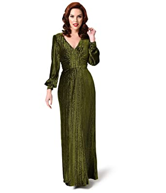 Green maxi dress long sleeve