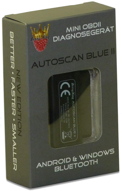 BerryKing Auto Can Blue 2019 Mini OBD2 diagnóstico de Dispositivo Torque Auto Car Vehículos OBD 2 Bluetooth Error de Memoria Lee y borra: Amazon.es: Coche y ...