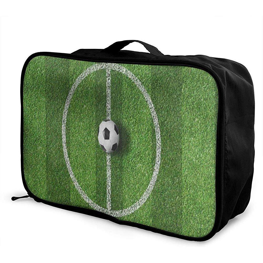 Bolsas de Viaje Campo de fútbol Balón Deporte Verde Almacenamiento ...