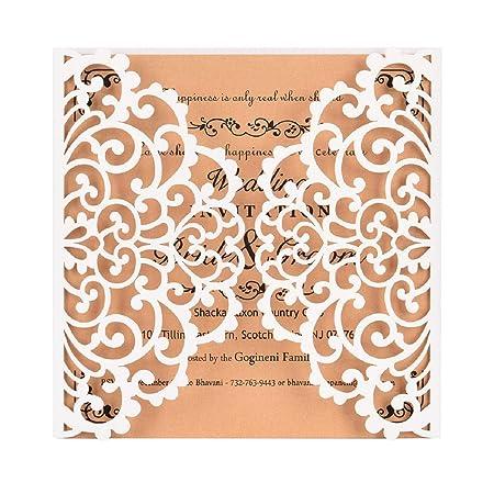 Vaycally 10 X invitaciones de boda personalizadas/invitaciones ...