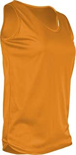 product image for TR-903W-CB Women's Athletic Single Ply Solid Color Light Weight Track Singlet (Medium, Gold)