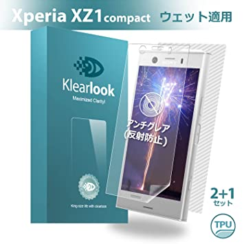 c148e2fe0871 Klearlook Sony Xperia XZ1 Compact用 「ゲーム好き人系列」 アンチグレア 保護フィルム 貼り