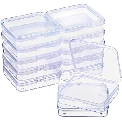 Amazoncom Satinior 12 Pack Clear Plastic Beads Storage Containers