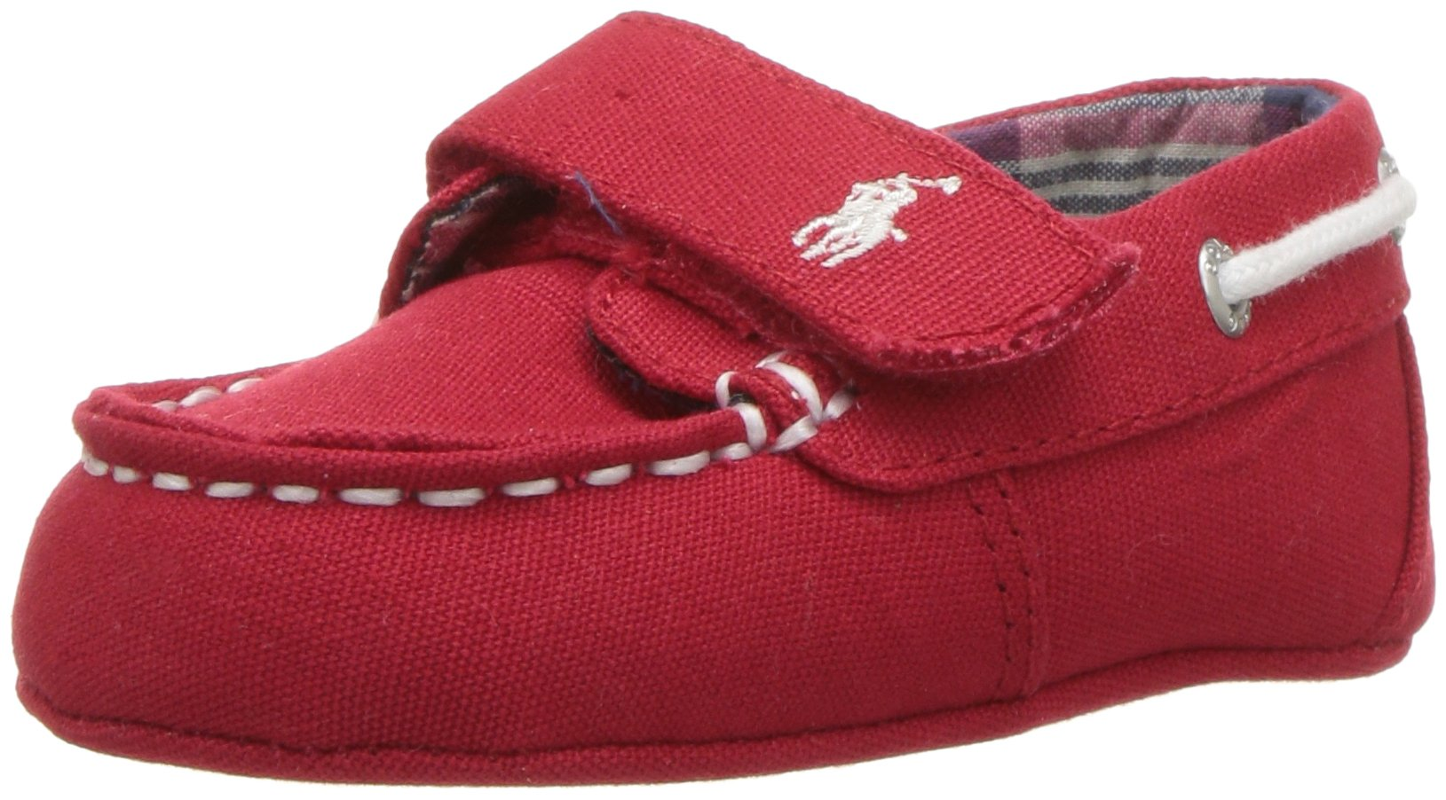 Polo Ralph Lauren Kids Boys' Sander EZ Crib Shoe, Red, 0 M US Infant
