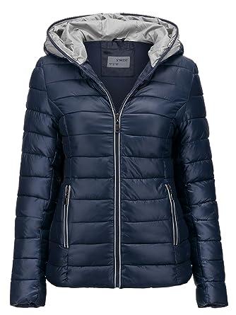 detailed look 8aebf 1e56a S'West Damen Jacke Steppjacke ÜBERGANGSJACKE Kapuze GESTEPPT Winterjacke  Skijacke