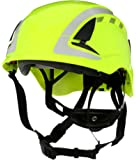 3M SecureFit Safety Helmet/Hard Hat, Climbing Style, Construction, Manufacturing, Forestry, Utilities, Work at Height, X5014VX-ANSI, Vented, Scotchlite Reflective, High Visibility Green, 94298
