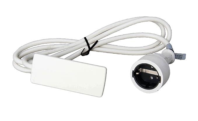 Schulte 151000155300 Evoline Plug - Enchufe con toma de tierra, color blanco