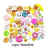 Hotsellhome 10Pcs/Pack Lovely Jumbo Squishies Soft Toy Medium Mini Slow Rising Squishy Panda/Bread/Cake/Buns/Donut Squeeze Stress Relief Toy Phone Straps Children Kids Adult Charm Gift
