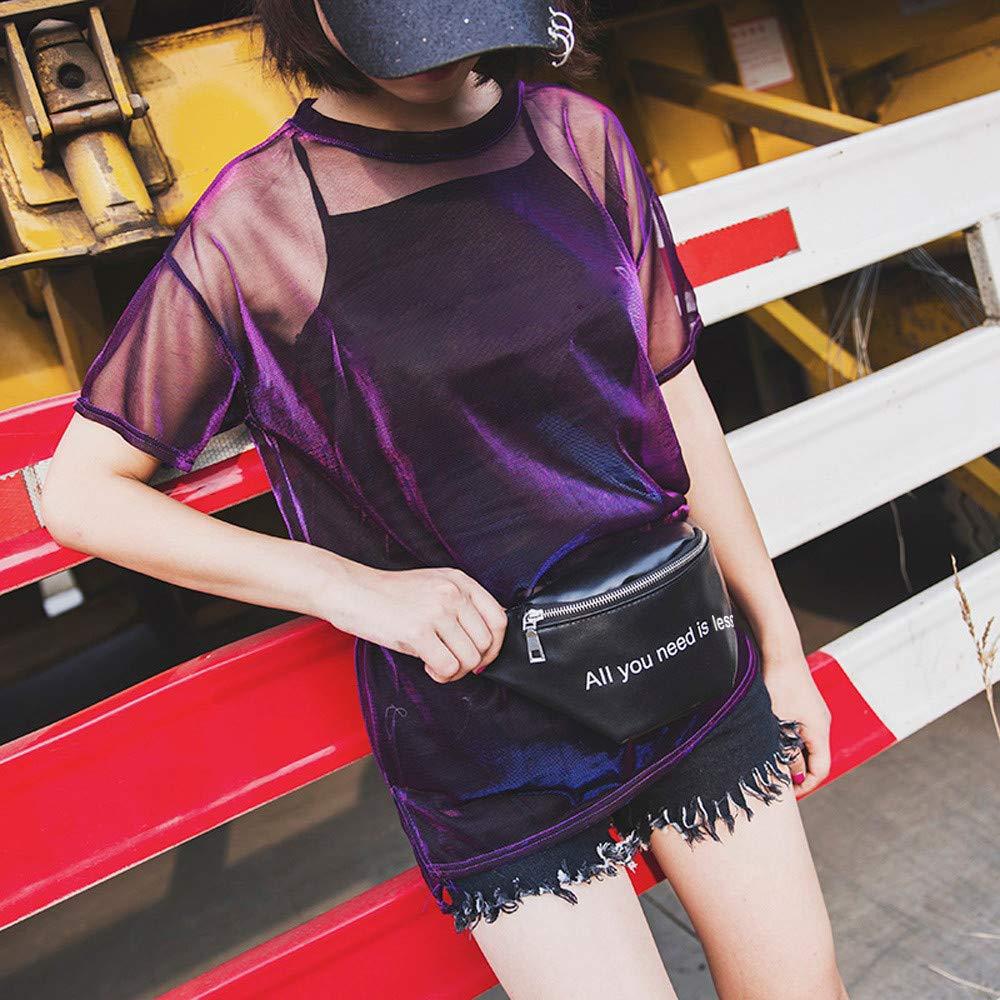 Yesmile Ri/ñonera para Se/ñoras de la Moda de Cuero Bolsillos de Mensajero del Hombro Bolso Bandolera Bandolera de Cuero de Moda para Mujer Bolso Bandolera
