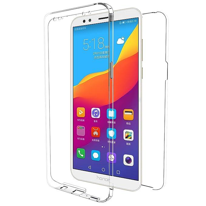 e00e2dff19160 MovilCom® - Funda Huawei Y9 2018 Transparente 360º Doble Ultra Fina ...