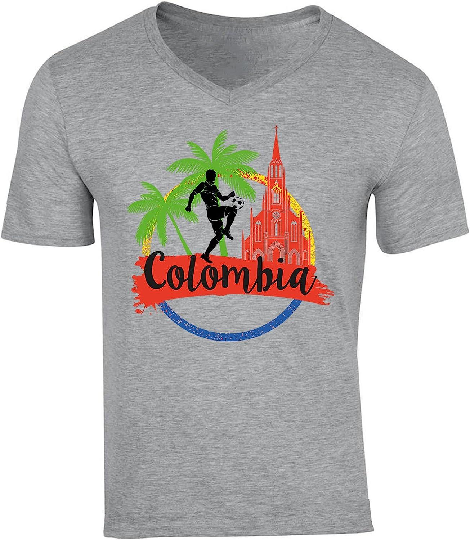 teesquare1st Cartagena Colombia Camiseta Gris para Hombre de Algodon: Amazon.es: Ropa y accesorios