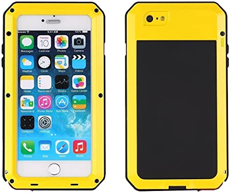 AIYIBEN iPhone 7 Funda, Gorila cristal aluminio aleación Metal extrema a prueba de choques militares Bumper heavy duty Funda Carcasa Case para Apple iPhone 7 (4,7 pulgadas) (Yellow): Amazon.es: Bricolaje y herramientas