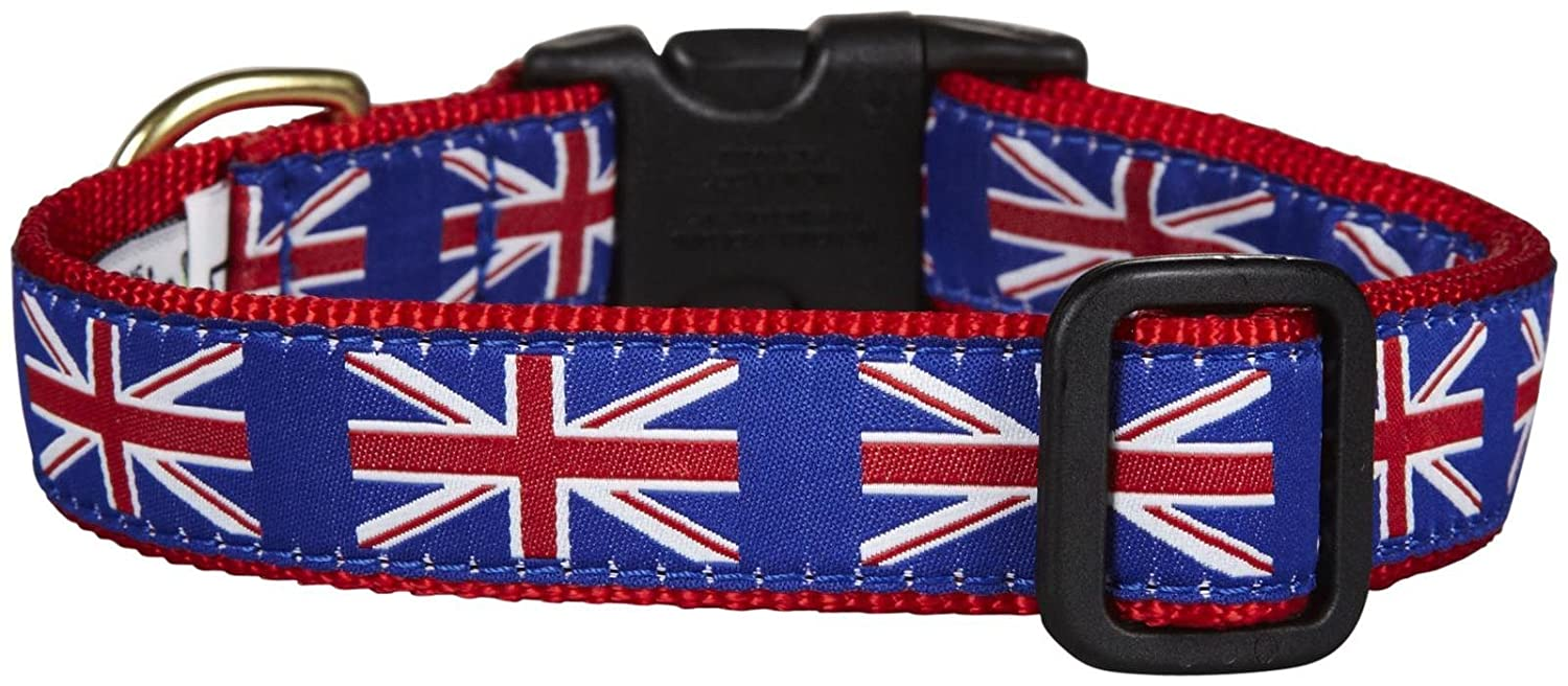Up Country Union Jack Dog Collar Medium
