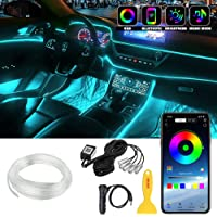 Interior Car LED Strip Lights, LEDCARE RGB Multicolor 5 in 1 Ambient Lighting Kits with 236 inches Fiber Optic, 16…