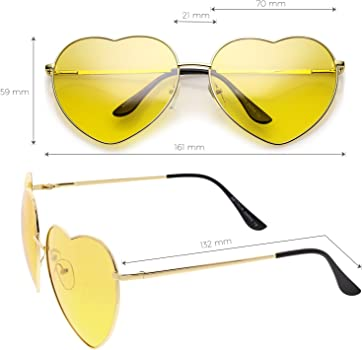 62169c19da Oversize Metal Heart Sunglasses With Thin Metal Arms Colored Lens 70mm.  sunglassLA - Oversize Metal Heart Sunglasses With Thin Metal Arms Colored  Lens 70mm ...