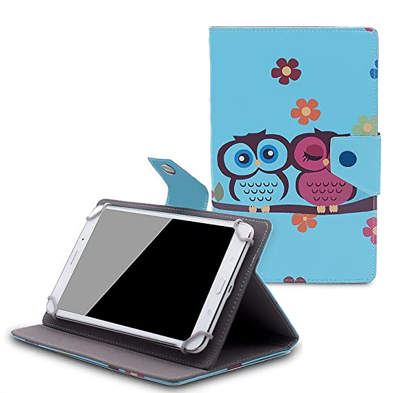 new arrival fa9b4 b2bf2 Tsmine RCA Voyager III 7-Inch Tablet RCT6973W43 Flip Cartoon Case -  Universal Lightweight Premium Printed PU Leather Cover, Owl Baby