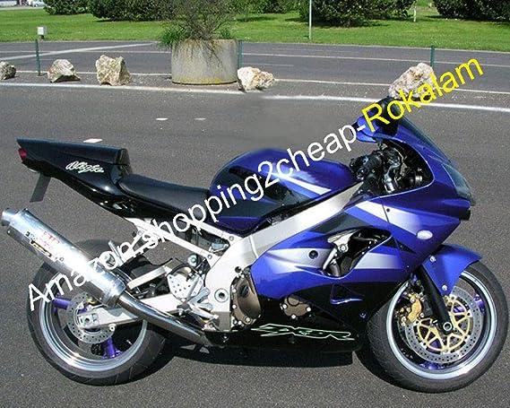 LoveMoto Jeux de visserie complets pour car/énages moto pour ZX-9R 02 03 ZX9R 2002 2003 Agrafes de fixation pour vis alu Noir Argent