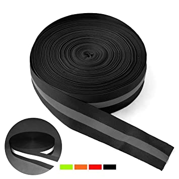 Reemky High Visibility Reflective Tape Strip Width 1.96 Fabric Reflective Safety Tape Sew-on Warning Safety Trim (Green 9.8ft//3M)