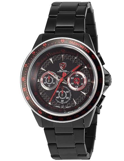 Shark SH241 - Reloj para Hombres, Correa de Acero Inoxidable Color Negro: Amazon.es: Relojes
