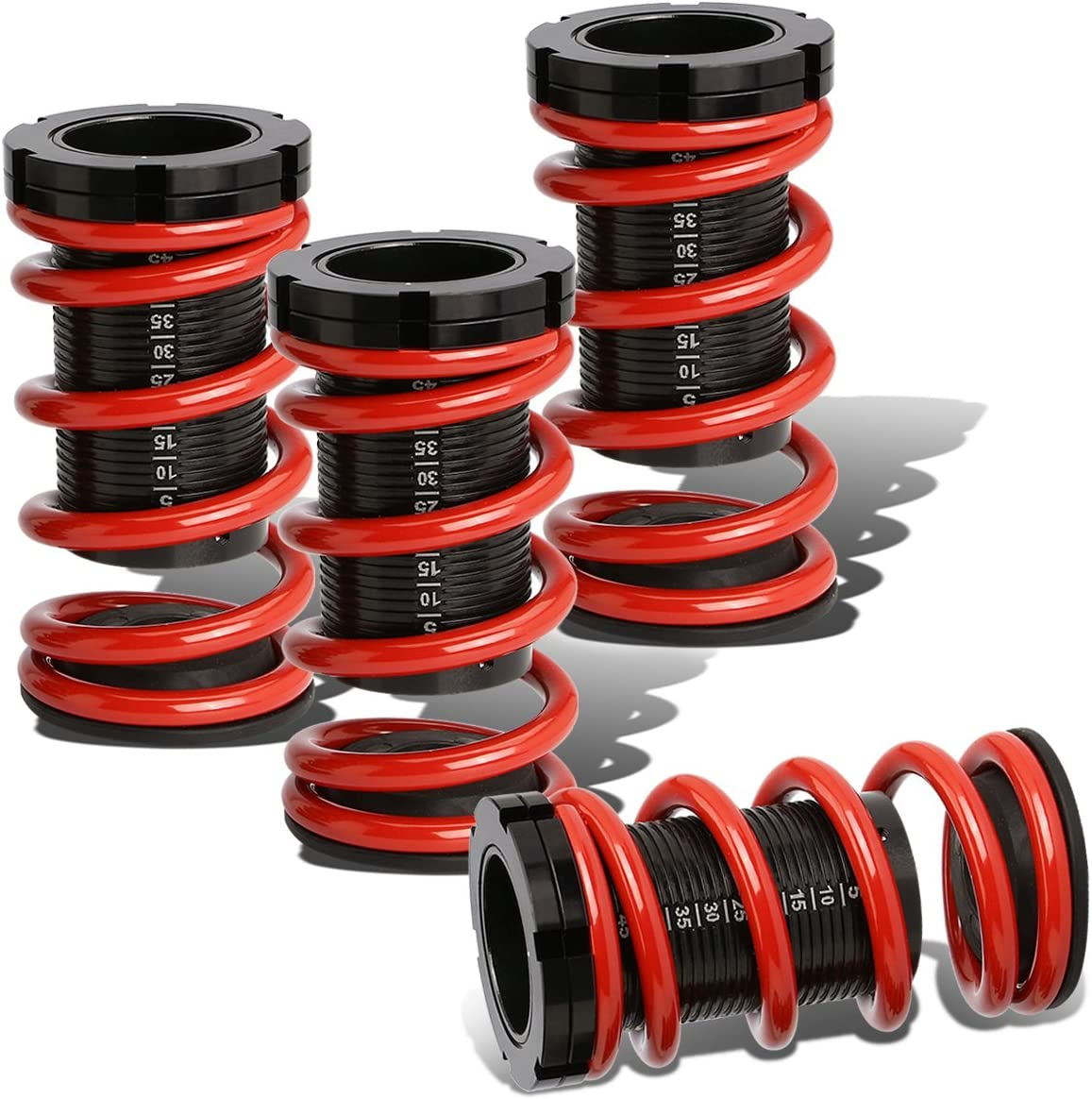 For Civic//CRX//Del Sol//Integra Aluminum Scaled Coilover Kit Red Springs Red Sleeves
