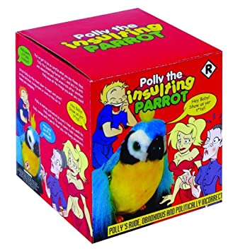 Polly The Insulting Talking Parrot Motion Sensor Rude Obnoxious Offensive  Toy c43afe4914