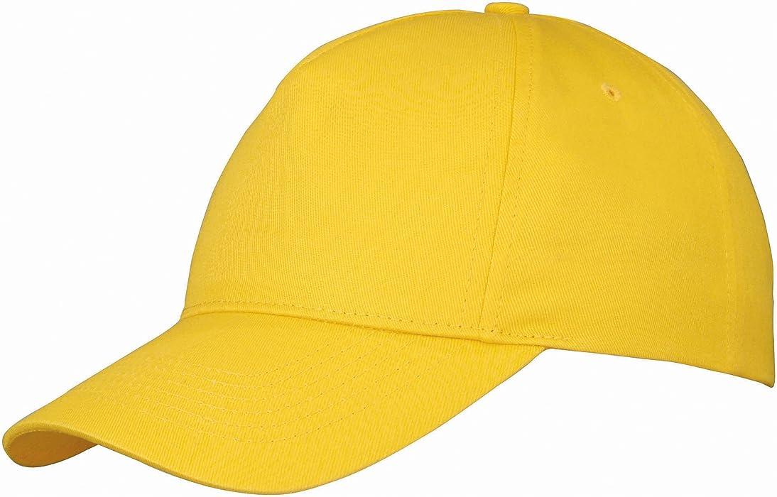 00dd9dbb93c US BASIC 5 PANEL CHILDRENS BASEBALL CAP HAT - 13 COLOURS (GOLDEN ...