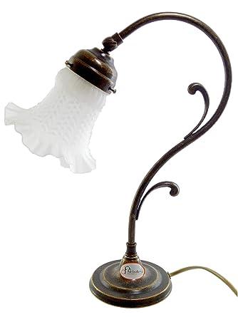 Tischlampe Messing Bruniert Jugendstil Schreibtischlampe