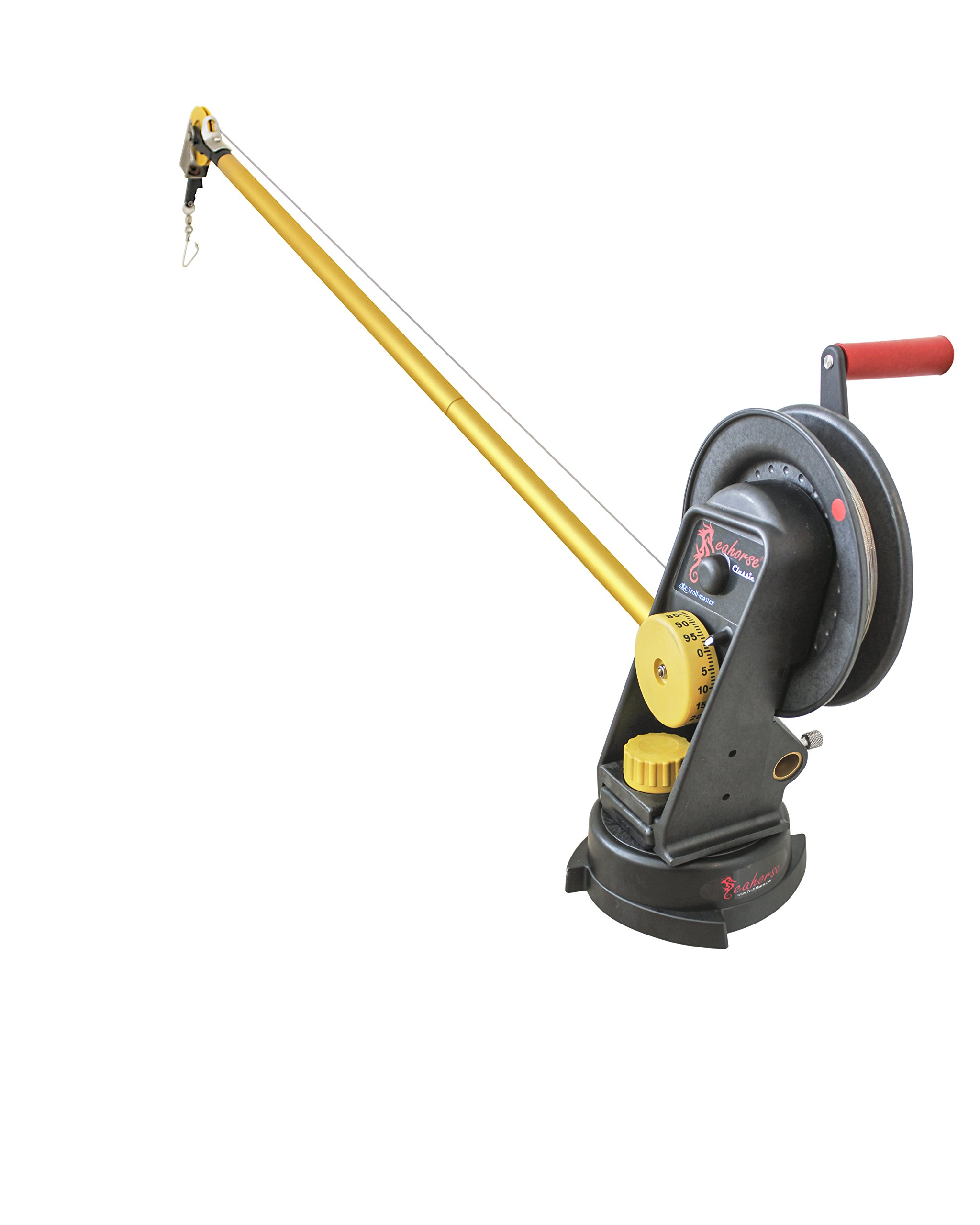 Seahorse Manual Downrigger with swivel base and extended boom By Troll-master by Seahorse