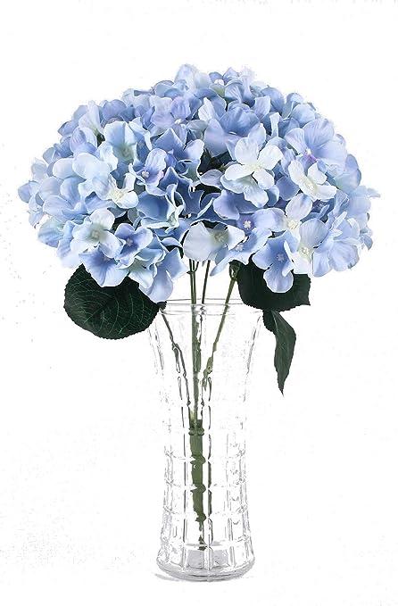 Amazon Com Charmly 7 Big Head Artificial Hydrangea Flowers Fake