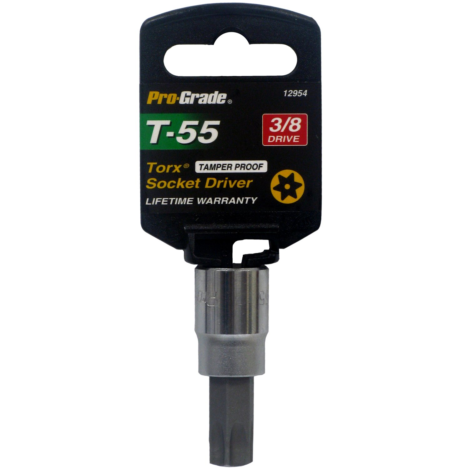 Pro-Grade 12954 3//8-Inch Drive with T55 Tamper Proof Torx Socket