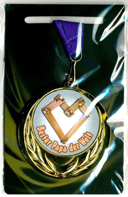 M-Shop Tienda M puede/Medalla Premio con texto Bester Papa der Welt y correa
