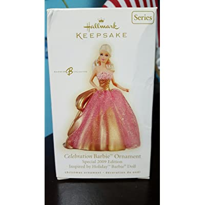 Celebration Barbie 10th In Series 2009 Hallmark Ornament: Home & Kitchen