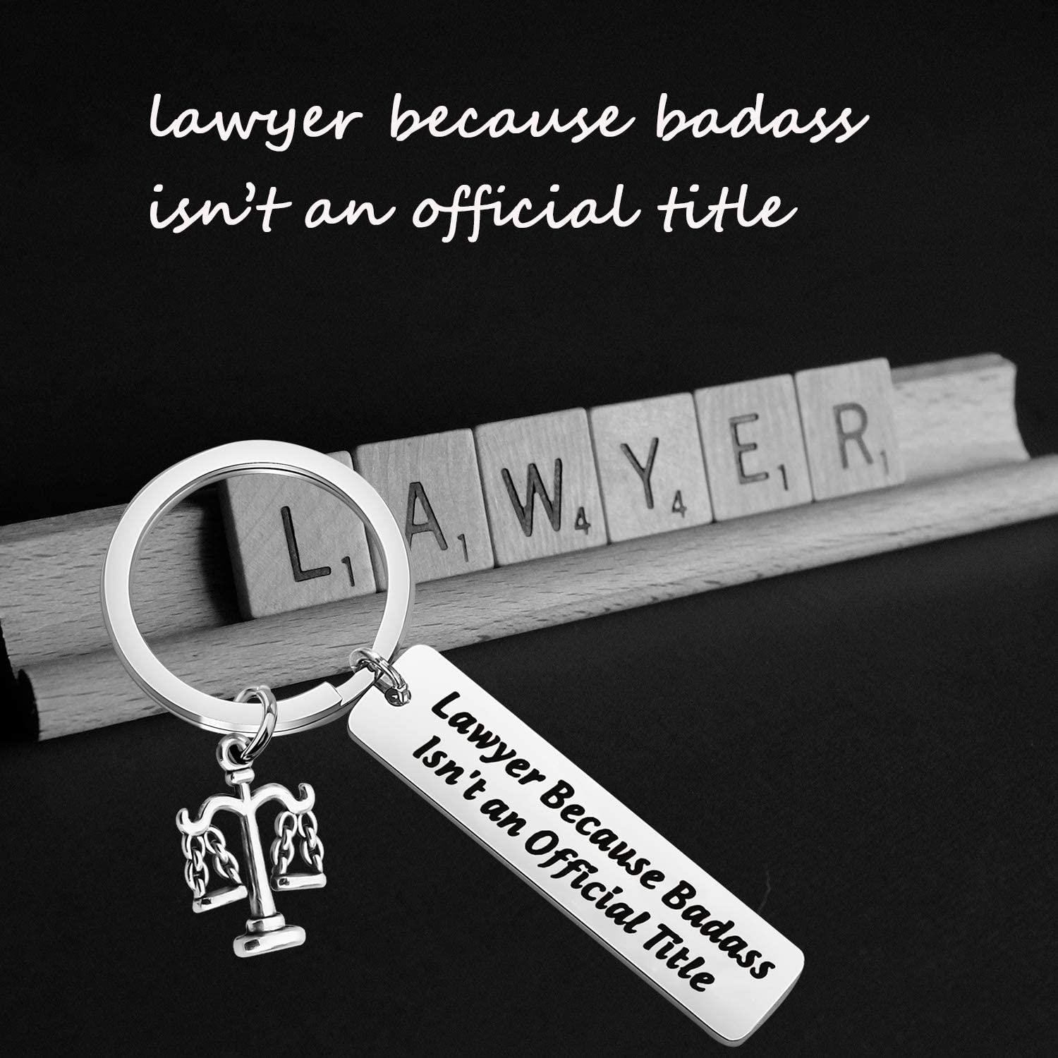 TIIMG Lawyer Gift Attorney Gift Law School Graduation Gift Lawyer Because Badass Isn/'t Official Title Keychain Gift for Law Student