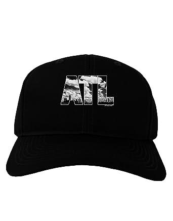 2a152f8ff7f Amazon.com  TooLoud ATL Atlanta Text Adult Dark Baseball Cap Hat ...