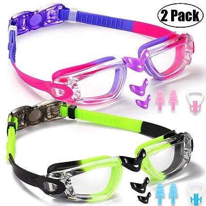 6061582f0b7b Amazon.com   Noorlee Kids Swim Goggles