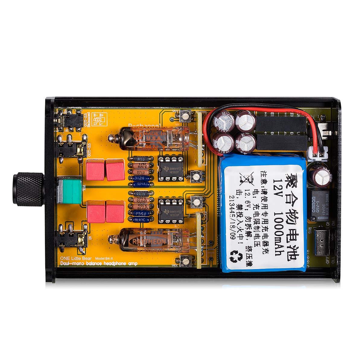 Little Bear B4 Portable Vacuum/&Valve Tube Headphone Amplifier Stereo Hi-Fi Amp built-in battery
