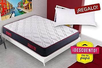 KAMA HAUS | Colchón Visco-Red Confort 70x190 | con Viscoelástica | 2 Caras: Invierno/Verano | Altura: ±20cm | ¡Almohada de Regalo!: