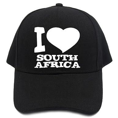 Teeburon I LOVE South Africa Baseball Cap at Amazon Men s Clothing ... 7ad38e37e58