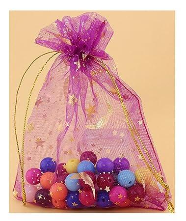 Amazon.com: freedi 100pcs Organza Cordón bolsas de joyas ...