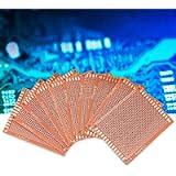 Universal Circuit Board, PCB Set 7x9cm Cleaned 10 Pcs/Set DIY PCB Prototype, Universal for DIY Soldering
